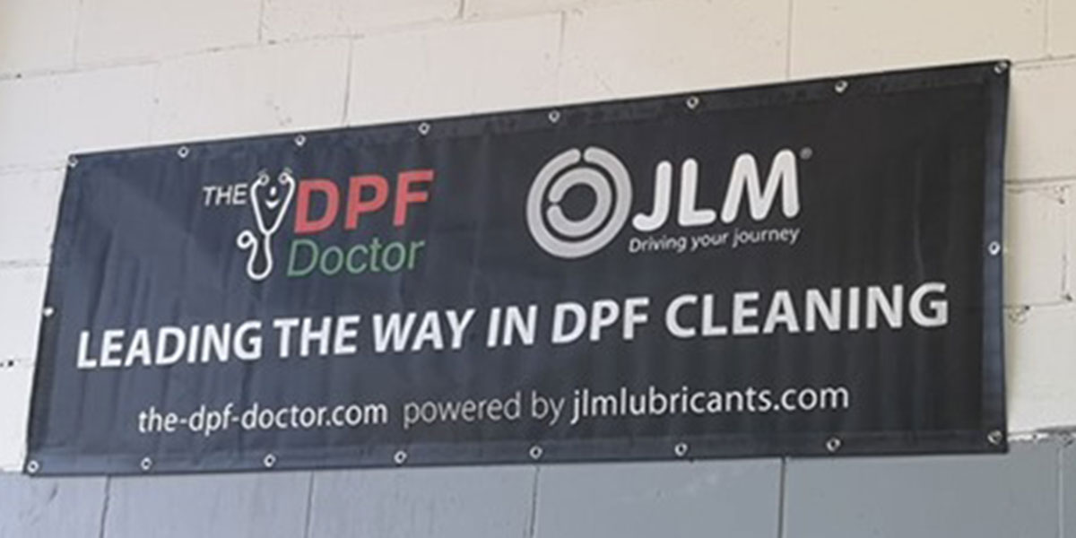 DPF Cleaning Company Banner in Warrington