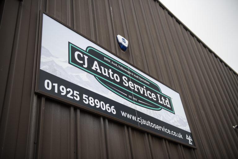 CJ Auto Service Sign