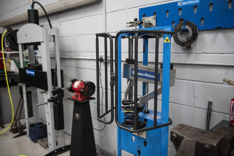 coil spring compression