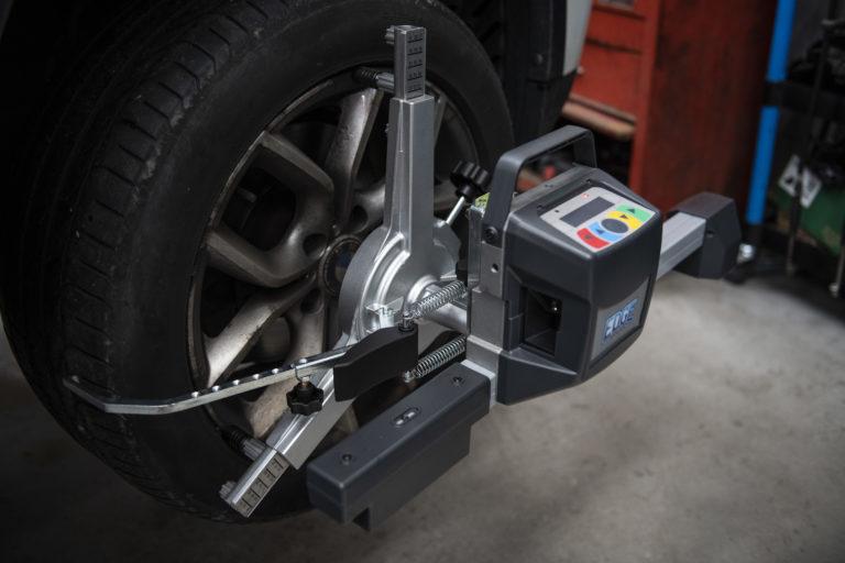 Wheel Alignment on car wheel