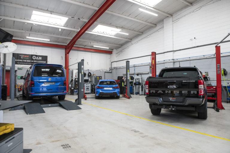 Cars in CJ Auto Service Garage