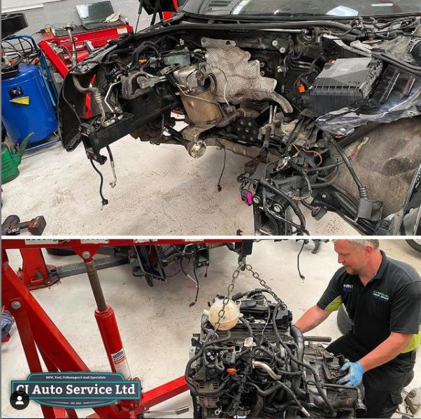Audi TT Stripped Engine - CJ Auto Service